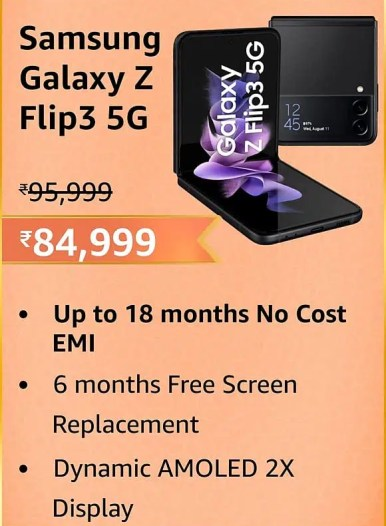 Huge Discounts on Samsung Galaxy Z Flip3 5G and Samsung Galaxy Z Fold3 5G at Amazon Great Indian Festival