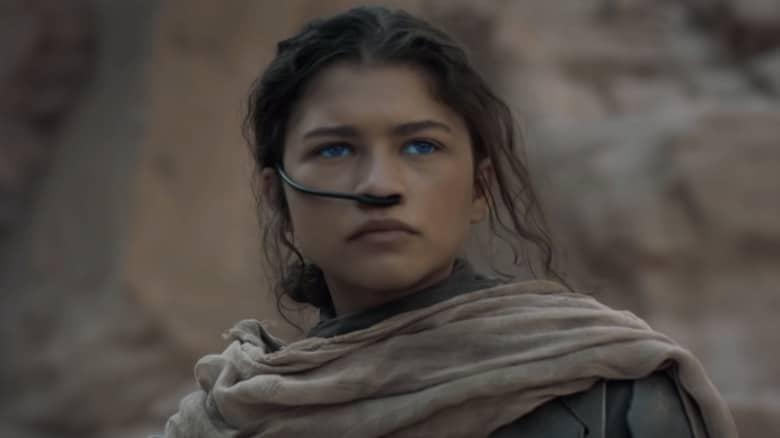 Zendaya looking mysterious in Dune
